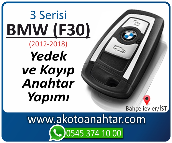 bmw 3 serisi f30 anahtari anahtar key yedek yaptirma fiyati kopyalama cogaltma kayip 2012 2013 2014 2015 2016 2017 2018 model - BMW 3 Serisi F30 Anahtarı | Yedek ve Kayıp Anahtar Yapımı