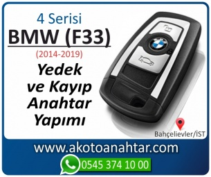 BMW 4 Serisi F33 Araba Oto Otomobil Car Yedek Kayıp Kumanda Kumandalı İmmobilizer Anahtar Anahtarı Çilingir Anahtarcı Acil Kopyalama Kodlama Locksmith Key Bahçelievler İstanbul Kayboldu Dönmüyor Okumuyor Orjinal Kontak Tamir Tamiri Çip