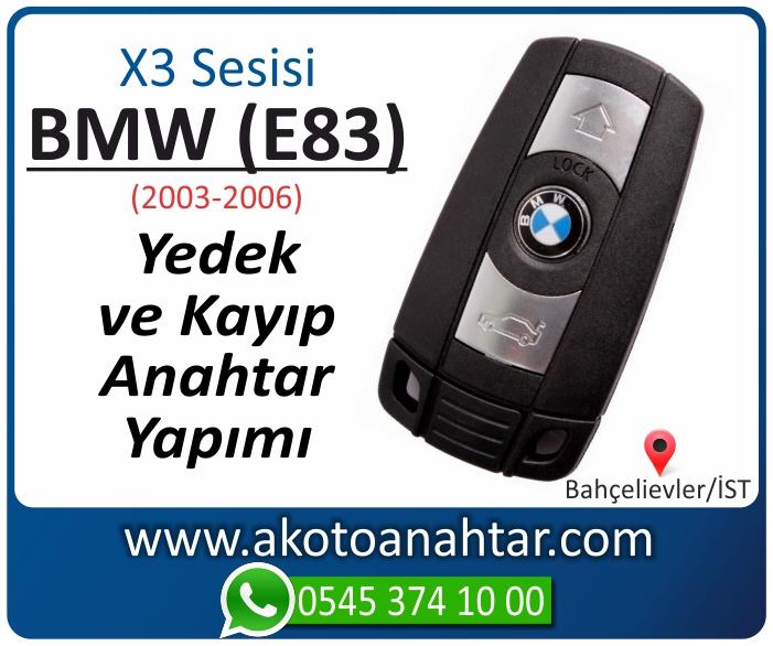 bmw x3 serisi e83 anahtari anahtar key yedek yaptirma fiyati kopyalama cogaltma kayip 2003 2004 2005 2006 model - BMW X3 Serisi E83 Anahtarı | Yedek ve Kayıp Anahtar Yapımı