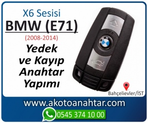 BMW X6 Serisi E71 Araba Oto Otomobil Car Yedek Kayıp Kumanda Kumandalı İmmobilizer Anahtar Anahtarı Çilingir Anahtarcı Acil Kopyalama Kodlama Locksmith Key Bahçelievler İstanbul Kayboldu Dönmüyor Okumuyor Orjinal Kontak Tamir Tamiri Çip