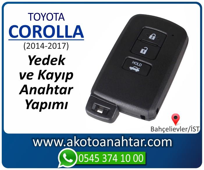 toyota corolla smart anahtari anahtar key yedek yaptirma fiyati kopyalama cogaltma kayip 2014 2015 2016 2017 model - Toyota Corolla  Smart Anahtarı | Yedek ve Kayıp Anahtar Yapımı