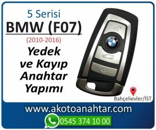 BMW 5 Serisi F07 Araba Oto Otomobil Car Yedek Kayıp Kumanda Kumandalı İmmobilizer Anahtar Anahtarı Çilingir Anahtarcı Acil Kopyalama Kodlama Locksmith Key Bahçelievler İstanbul Kayboldu Dönmüyor Okumuyor Orjinal Kontak Tamir Tamiri Çip